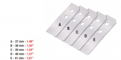 0,2mm 1 készlet/csomag ívleválasztó, 1 sets packet Sheet separator