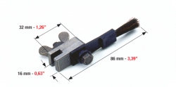 Feeder brush with clamp for