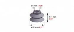 Speciális szívógumi, 51 ultra, 11mm*18mm*6mm