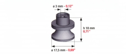 Speciális szívógumi, 71 ultra, 18mm*17,5mm*3mm