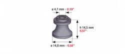 Speciális szívógumi, 107 ultra, 14,5mm*14,8mm*4,7mm